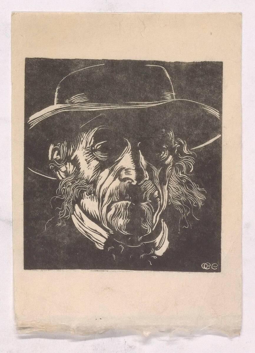 Porträt Mann mit Hut von Czeschka, Carl Otto