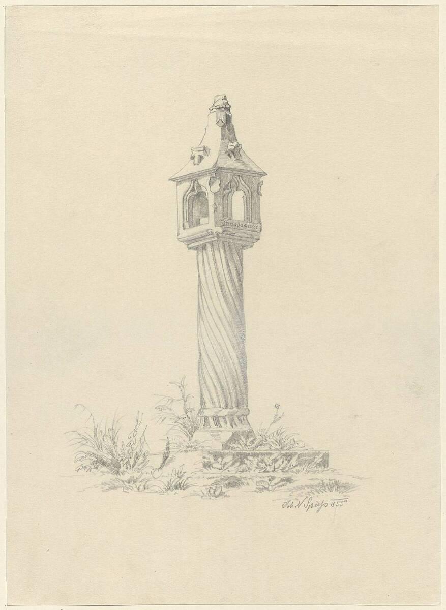 Kopie einer Betsäule vor dem Stift zu Zwettl von Johann Nepomuk Spieß (vom Bearbeiter vergebener Titel) von Spieß, Johann Nepomuk