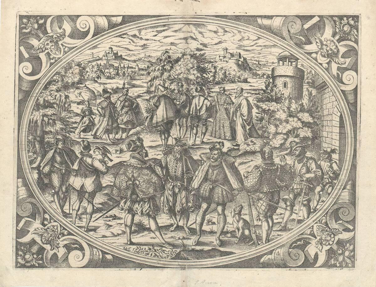 Der Adel (aus Chasseneux Catalogus gloriae mundi, Frankfurt 1579) (vom Bearbeiter vergebener Titel) von Amman, Jost
