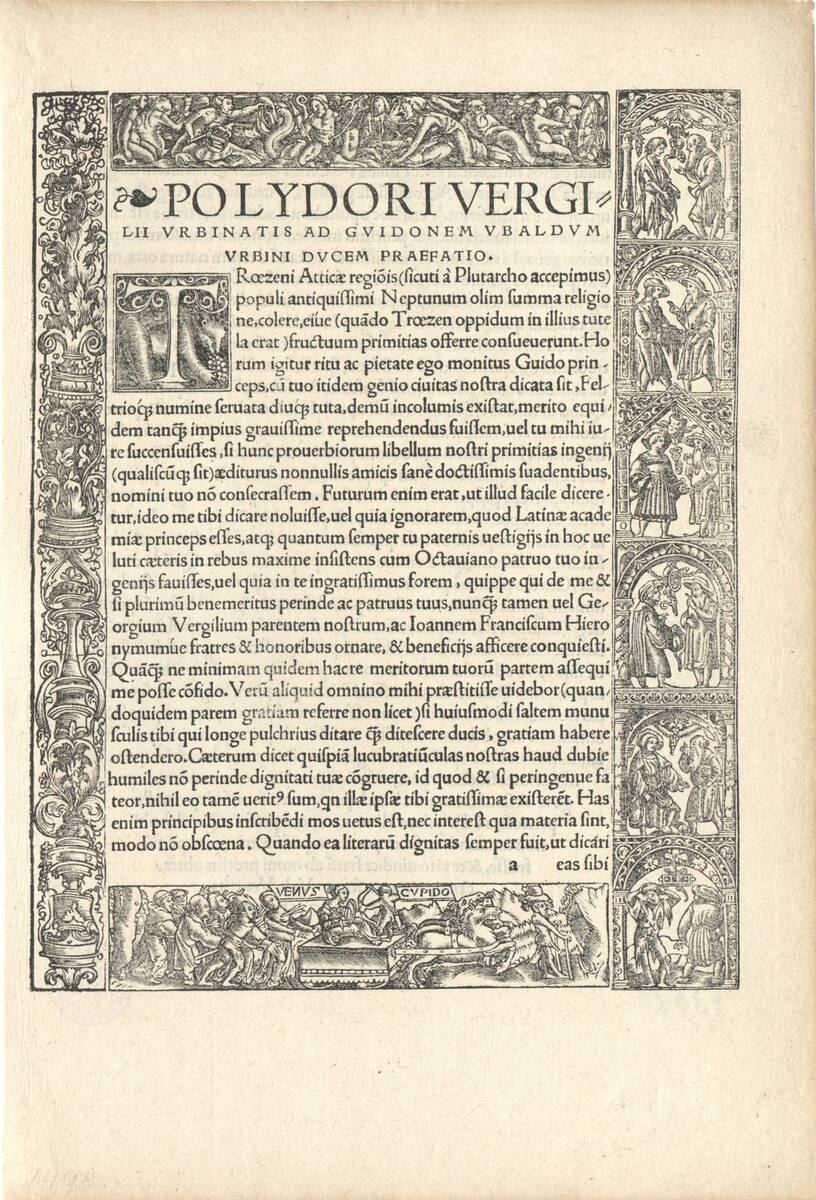 Randeinfassung aus vier Leisten bestehend. Auf der unteren Venus und Cupido; die Leiste rechts von I. F. (vom Bearbeiter vergebener Titel) von Holbein, Hans
