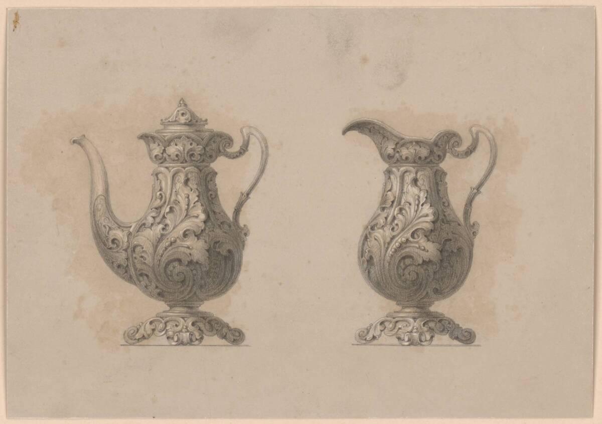 Zwei Kannen (vom Bearbeiter vergebener Titel) von Pfannenschwarz, H.