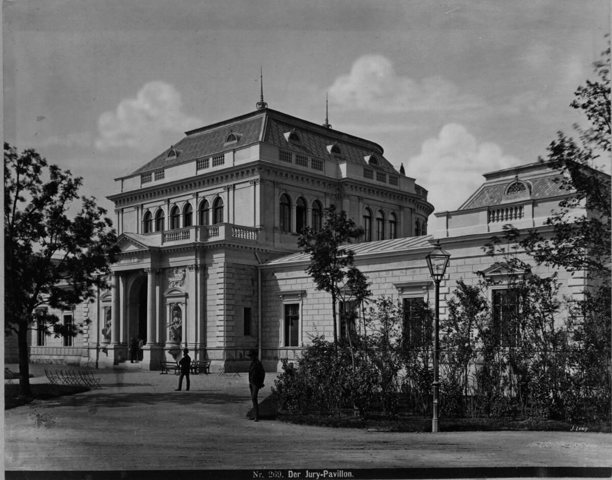 Ansicht des Jury-Pavillons auf der Weltausstellung 1873 von Wiener Photographen-Association