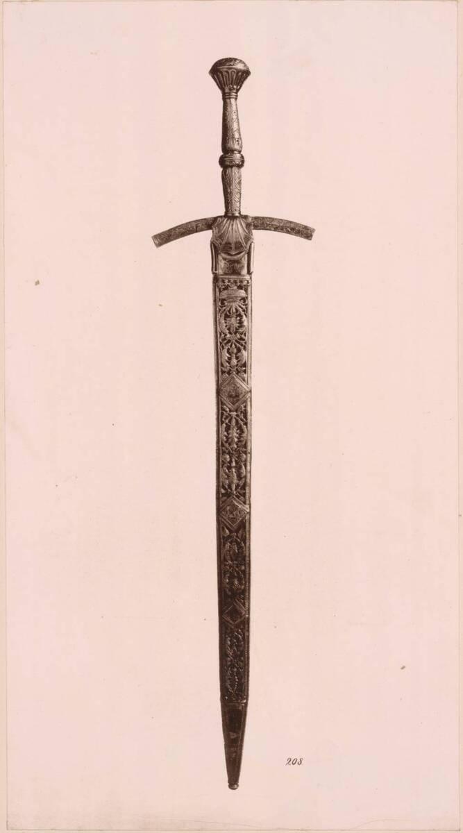 Lichtdruck des Brandenburgischen Kurschwerts (vom Bearbeiter vergebener Titel) von Anonym