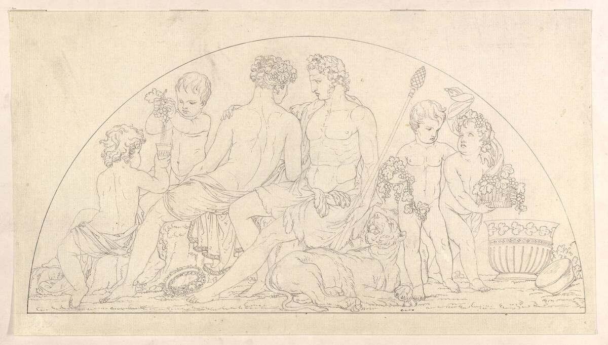 Entwurf für ein Lunettenrelief des Oktogons im Palais Modena zu Wien von Klieber, Josef