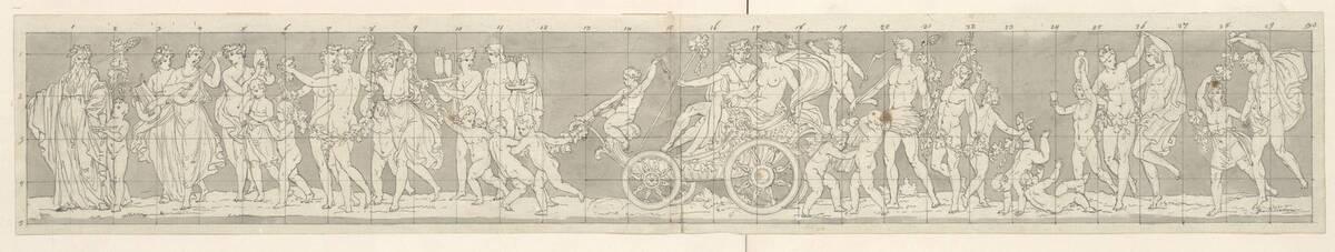 Entwurf für ein allegorisches Relief mit Bacchus und Ceres von Klieber, Josef