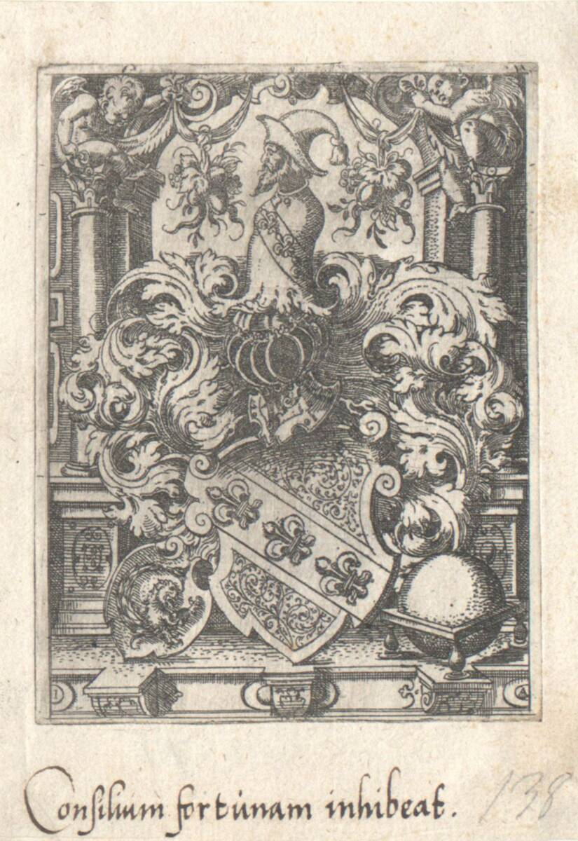 Die Wappen der Gugel, erster Zustand (vom Bearbeiter vergebener Titel) von Amman, Jost