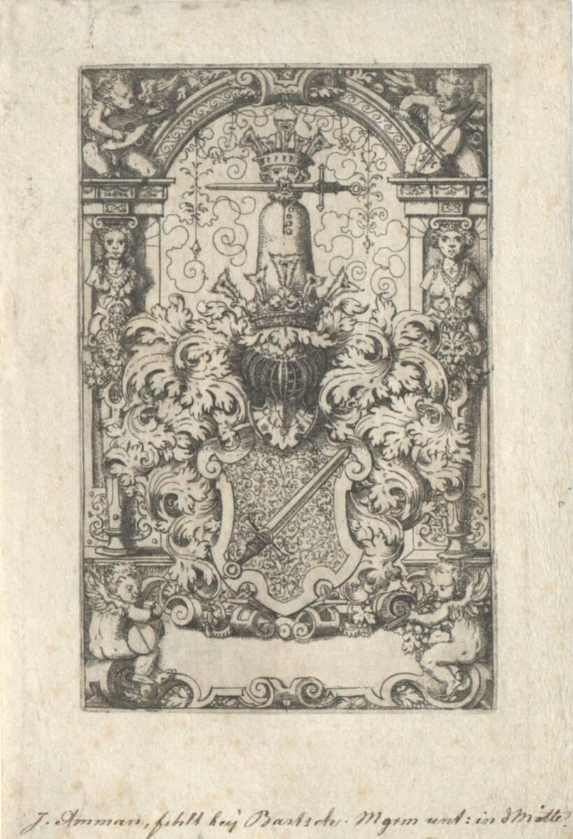 Die Wappen der Kress von Kressenstein (vom Bearbeiter vergebener Titel) von Amman, Jost