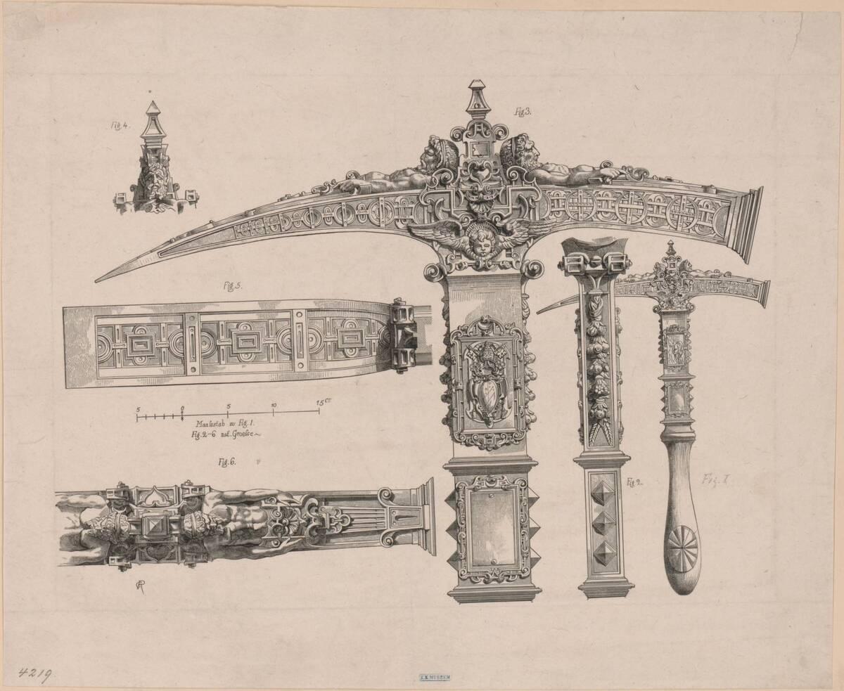 Stilkopie des Zeremonienhammers von Papst Julius III. im Bayerischen Nationalmuseum in München (vom Bearbeiter vergebener Titel) von Anonym