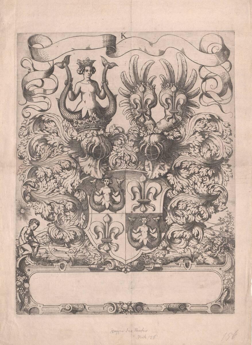 Das große Wappen der Ritter von Kornburg (vom Bearbeiter vergebener Titel) von Amman, Jost