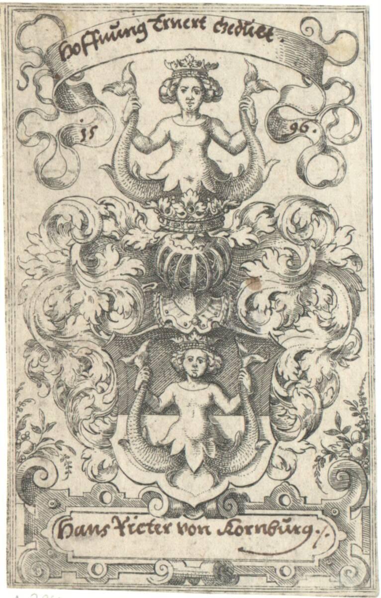 Das kleine Wappen der Rieter von Kornberg (vom Bearbeiter vergebener Titel) von Amman, Jost