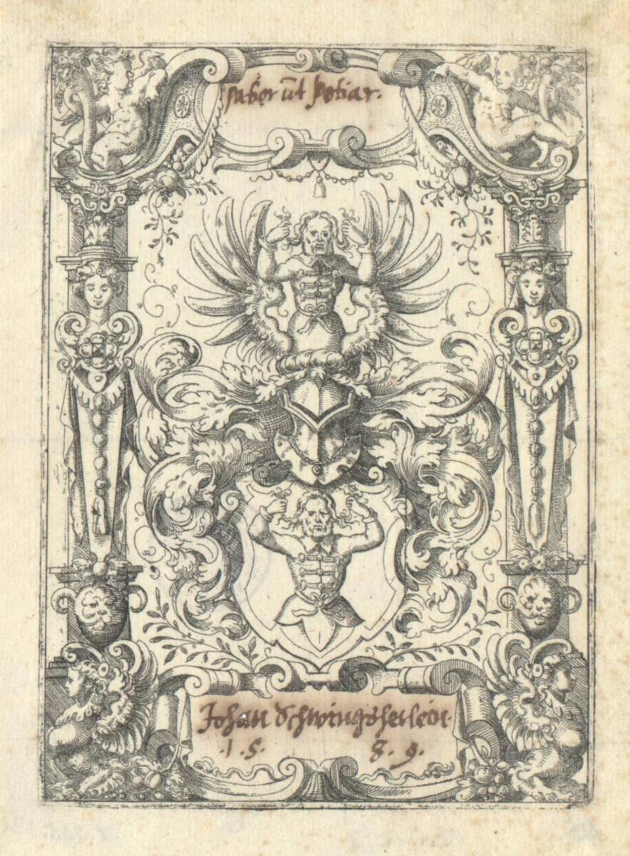 Das Wappen der Schwingsherlin (vom Bearbeiter vergebener Titel) von Amman, Jost