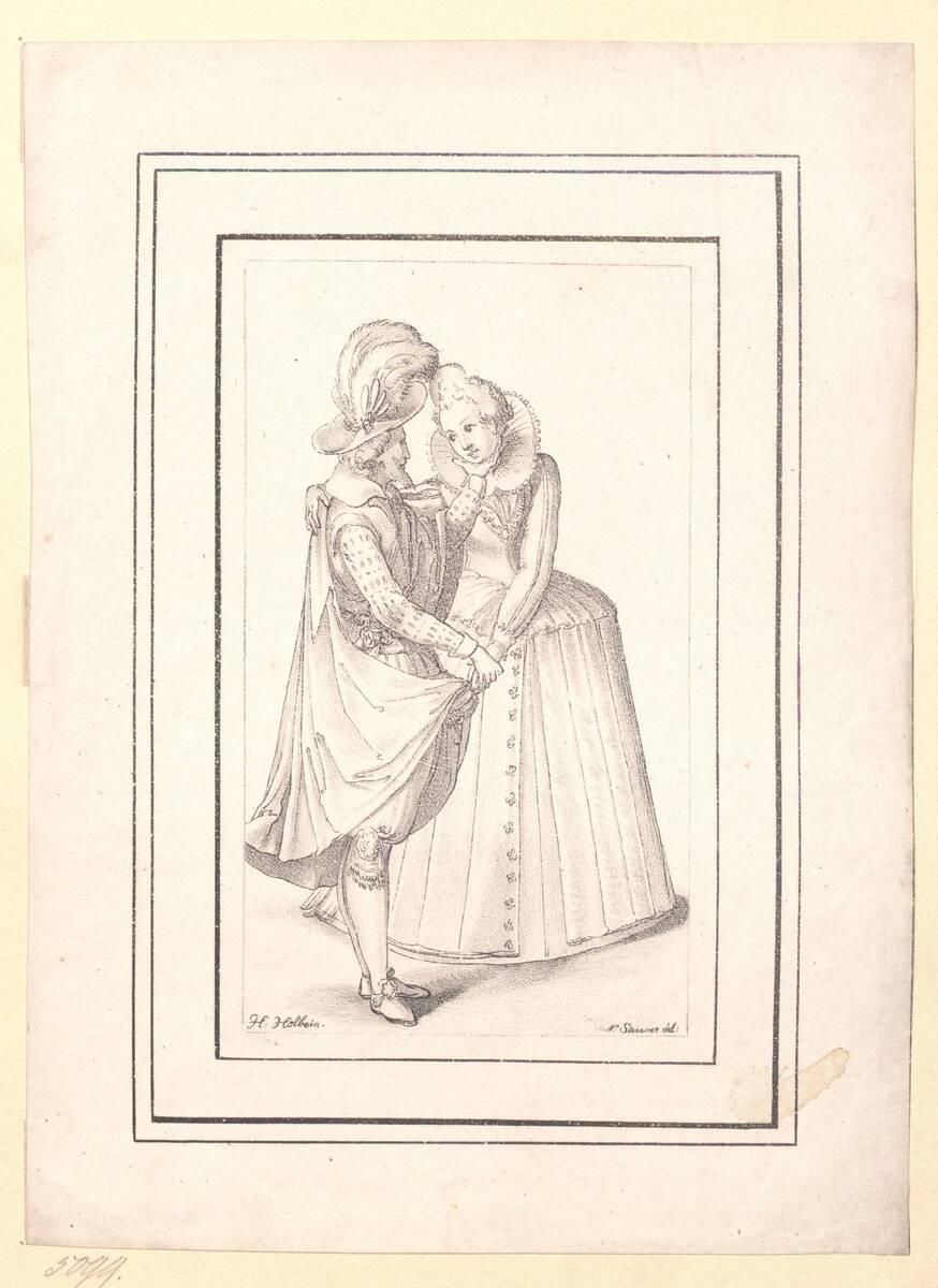 Kostümstudie nach Hans Holbein d. J. (?) von Holbein, Hans
