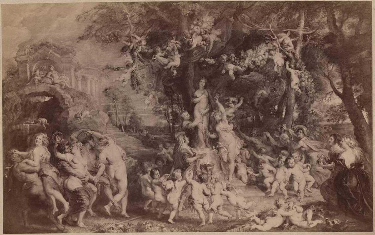 """Fotografie des Gemäldes """"Venusfest"""" von Tintoretto im Kunsthistorischen Museum (vom Bearbeiter vergebener Titel) von Löwy, Josef"""