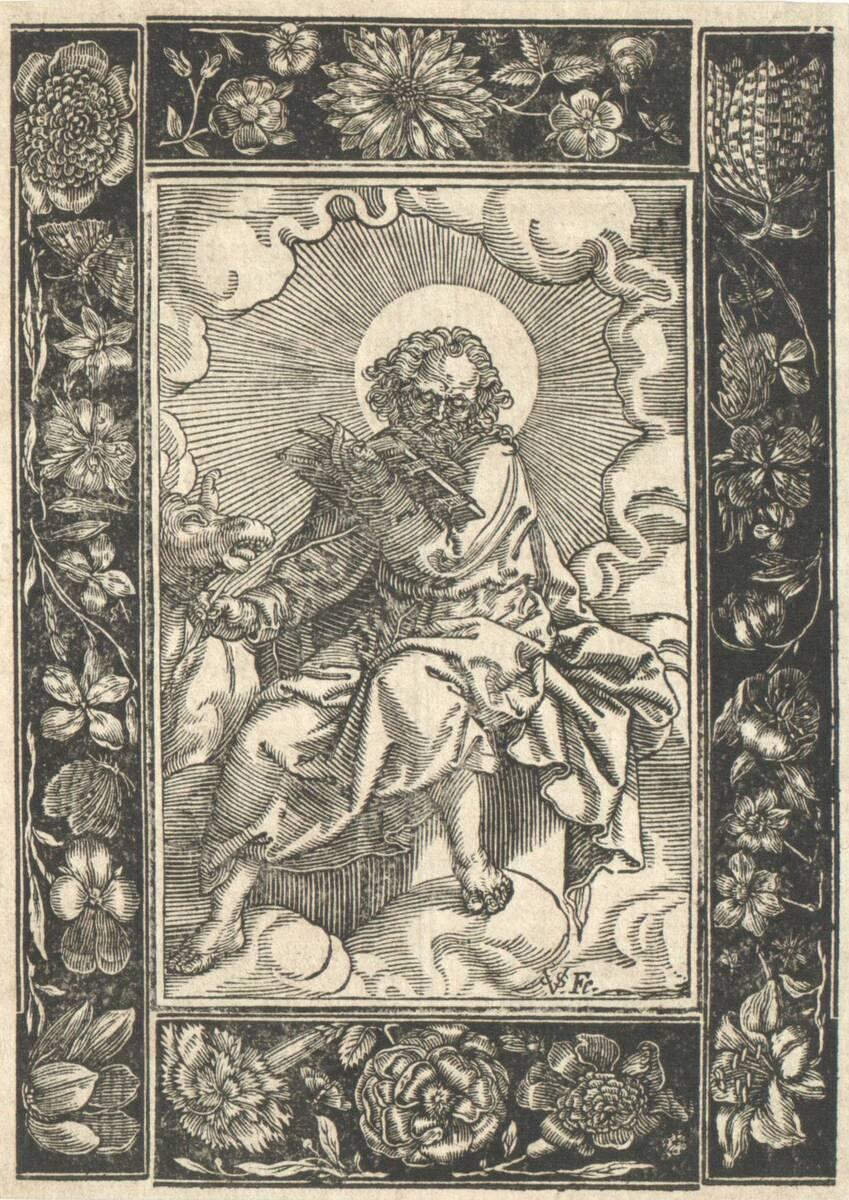 Der Evangelist Matthäus, umgeben von vier Zierleisten (vom Bearbeiter vergebener Titel) von Sichem, Christoffel van
