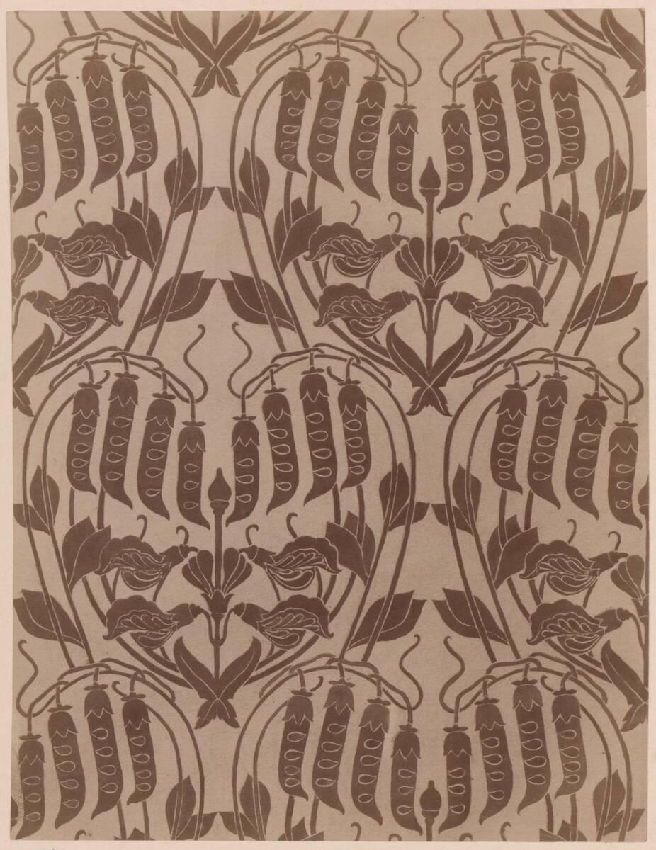 Fotografie eines Entwurfes für einen Möbelstoff (vom Bearbeiter vergebener Titel) von Gmeiner, Wilhelm