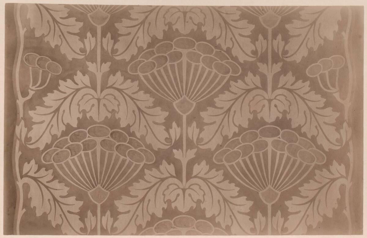 Fotografie eines Stoffmusters für einen Laufteppich nach einem Entwurf von B. Jeniĉek. (vom Bearbeiter vergebener Titel) von Gmeiner, Wilhelm