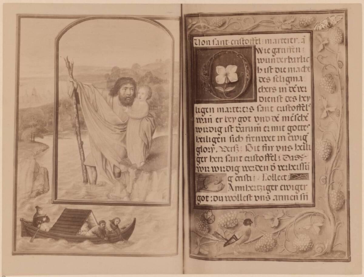 Fotografie einer Buchmalerei aus dem Hortulus animae, von 1515-1521 in der Österreichischen Nationalbibliothek (cod. 2706) von Gmeiner, Wilhelm