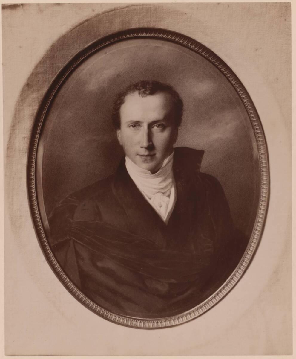 Fotografie eines Selbstporträts des Malers Ferdinand Georg Waldmüller, von 1833-34 (vom Bearbeiter vergebener Titel) von Gmeiner, Wilhelm
