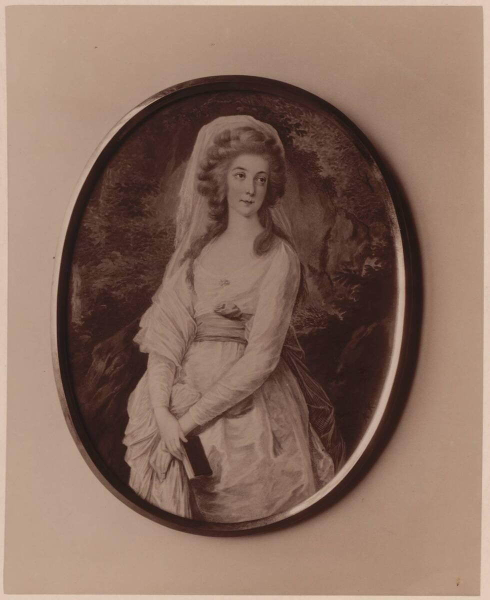 Fotografie einer Porträtmalerei einer Dame (vom Bearbeiter vergebener Titel) von Gmeiner, Wilhelm
