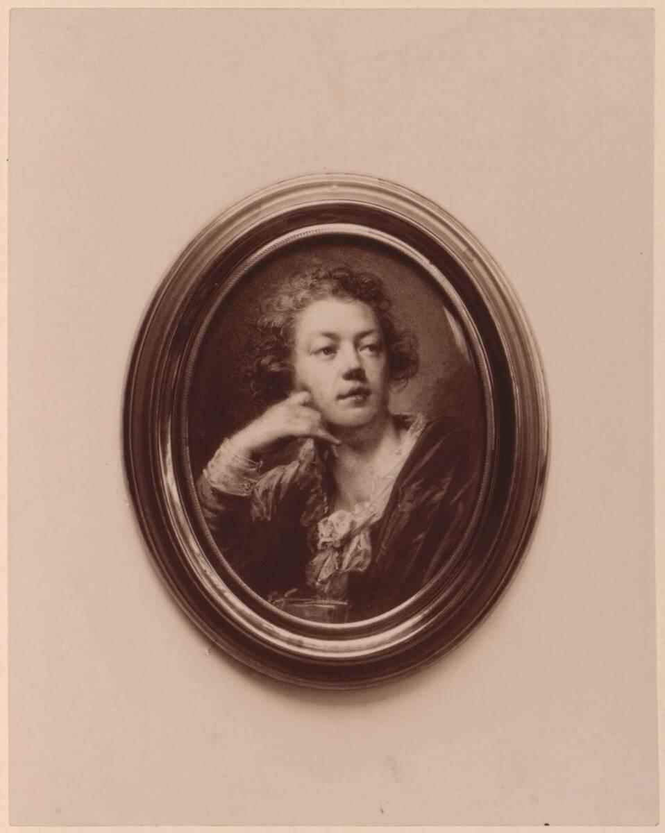 Fotografie eines Selbstporträts von Heinrich Friedrich Füger (vom Bearbeiter vergebener Titel) von Gmeiner, Wilhelm