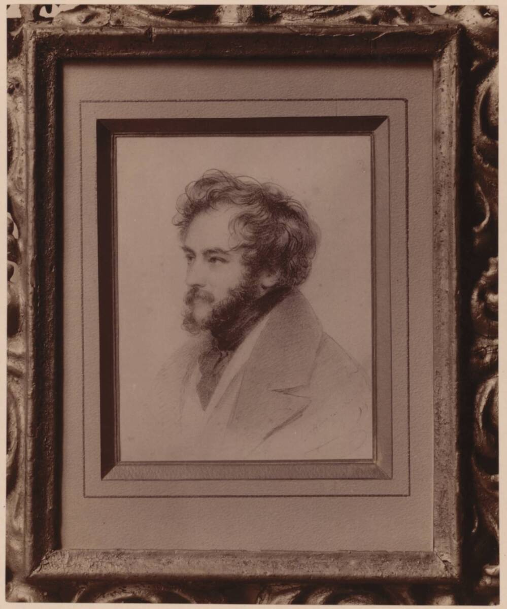 Fotografie eines Selbstporträts von Moritz Michael Daffinger, von 1820 (vom Bearbeiter vergebener Titel) von Gmeiner, Wilhelm