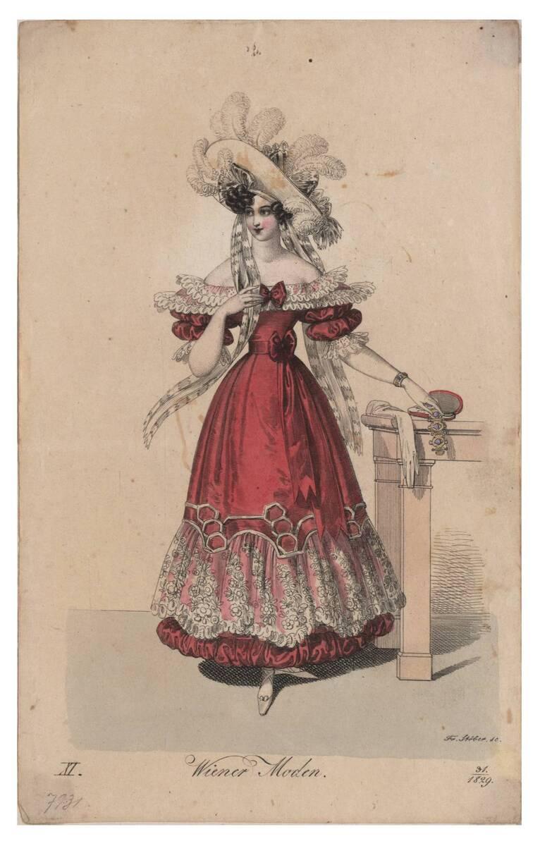 Wiener Moden. Aus: Wiener Zeitschrift für Kunst, Literatur, Theater und Mode. von Ender, Johann Nepomuk