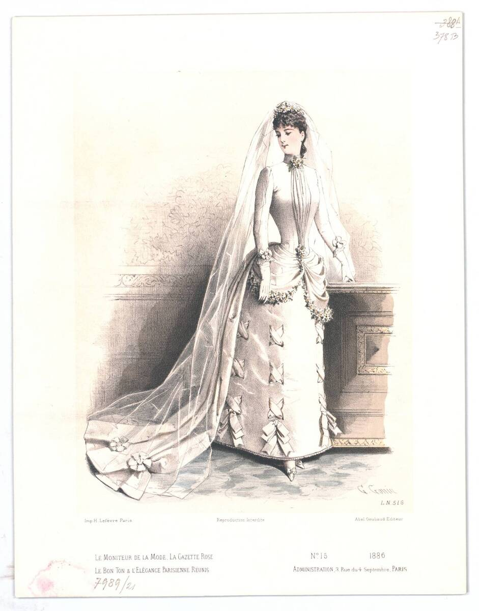 Modebild aus 'Le Moniteur de la Mode' von Gonin, Guido