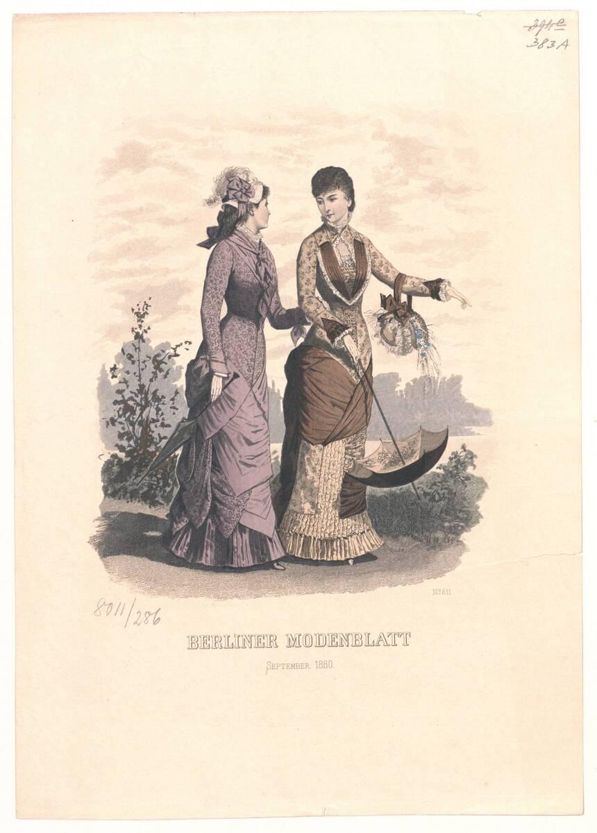 Modebild aus dem 'Berliner Modenblatt'