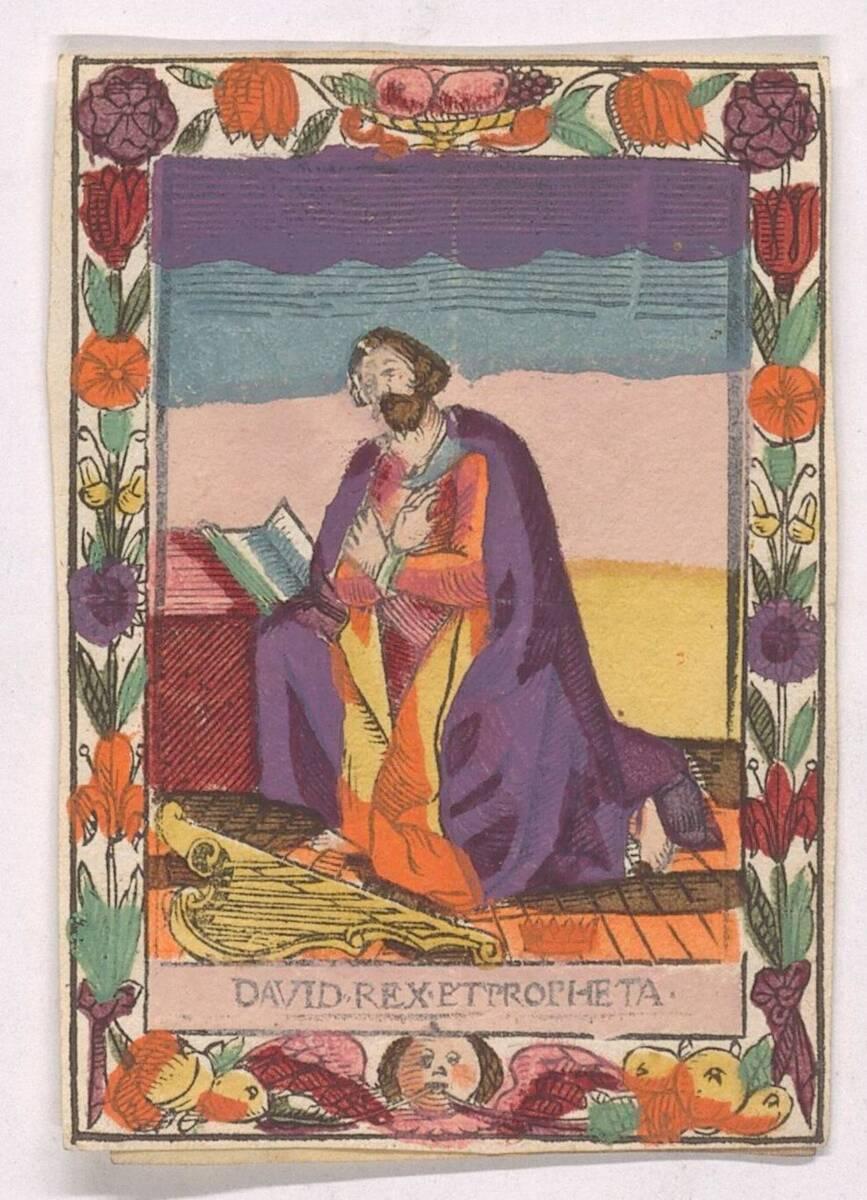 Andachtsbild mit König David von Anonym