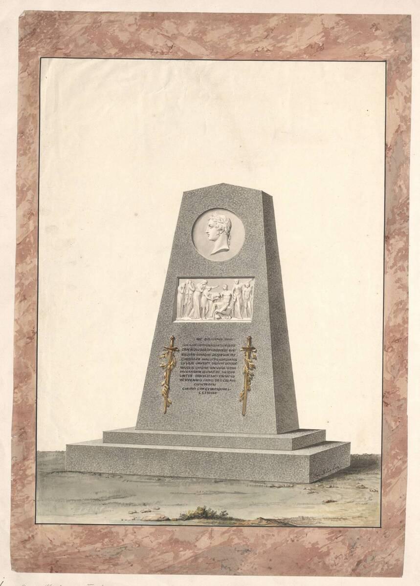 Entwurf für eine Grabstele (vom Bearbeiter vergebener Titel) von Klieber, Josef