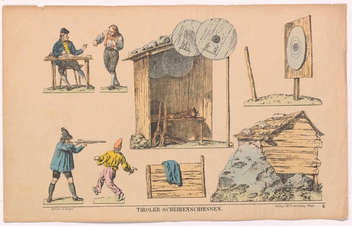 Tiroler-Scheibenschiessen. Nr. 5 von Trentsensky, Matthias