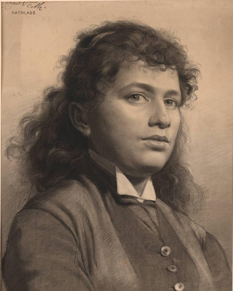 Portrait einer Frau (vom Bearbeiter vergebener Titel) von Veith, Eduard