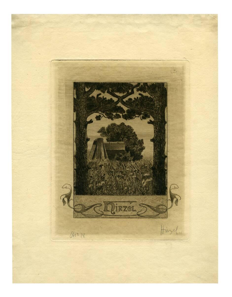 Exlibris von Hirzel, Hermann