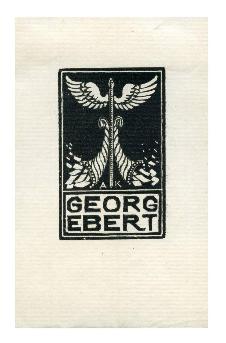 Exlibris für Georg Ebert von Kunst, Adolf