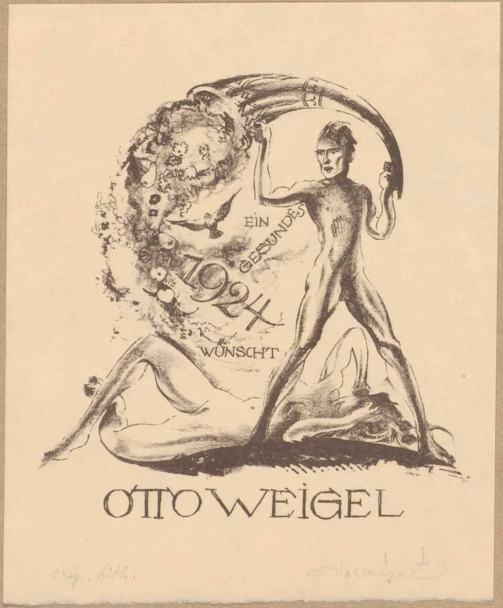 Neujahrskarte von Weigel, Otto