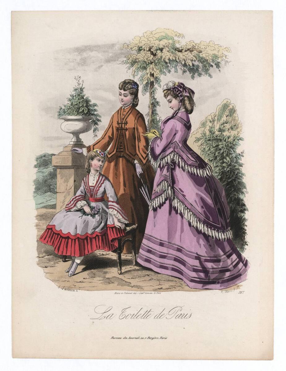 Modebild aus 'La Toilette de Paris' von Morland, Valère Alphons