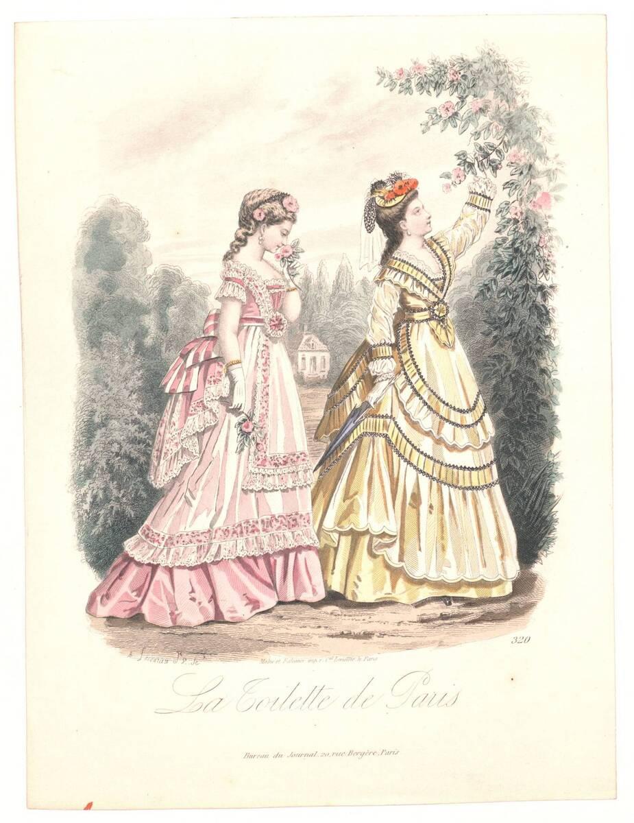 Modebild aus 'La Toilette de Paris' von Lacouriere, A.