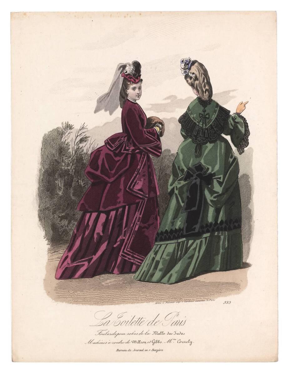 Modebild aus 'La Toilette de Paris' von Anonym
