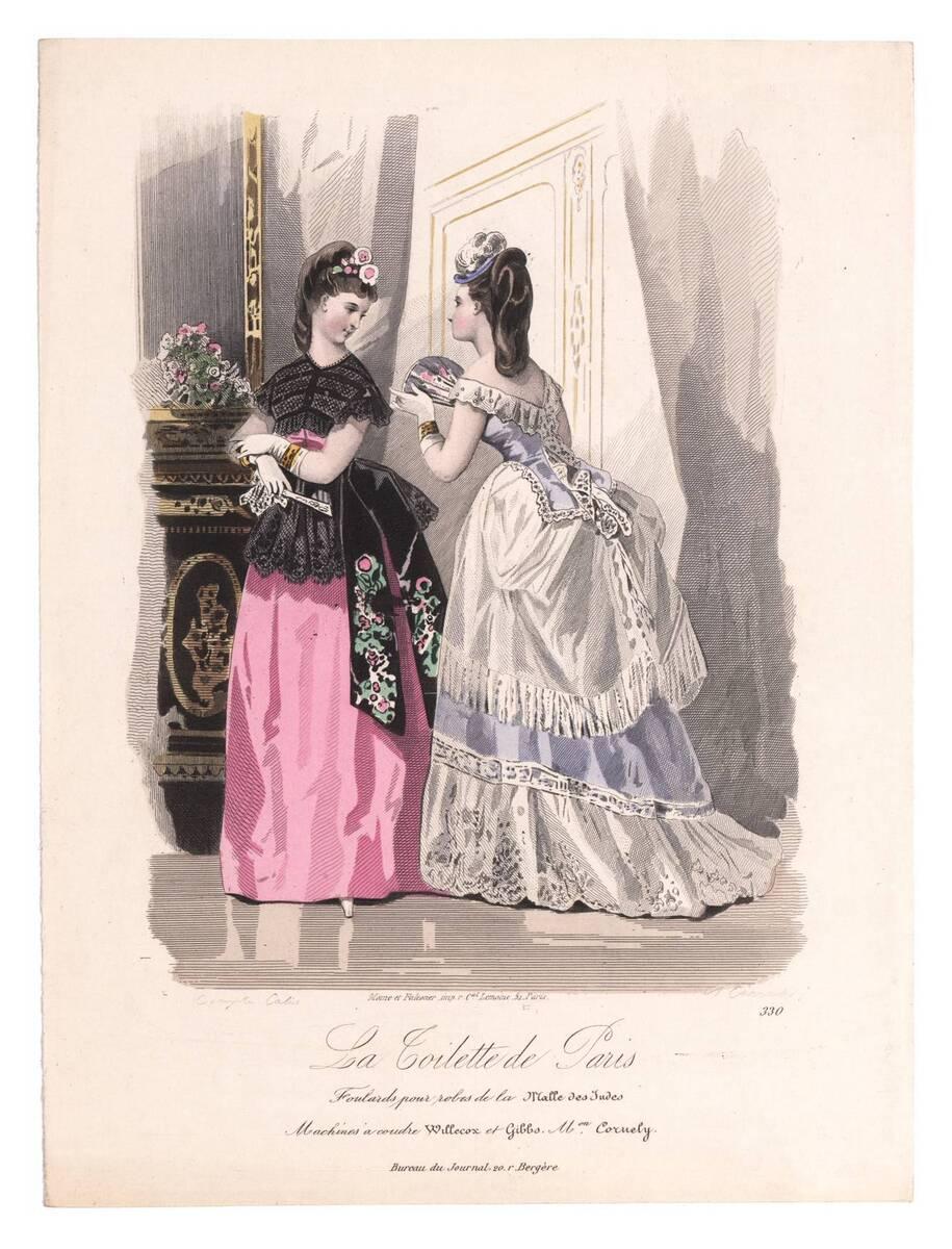 Modebild aus 'La Toilette de Paris' von Carraché, A.
