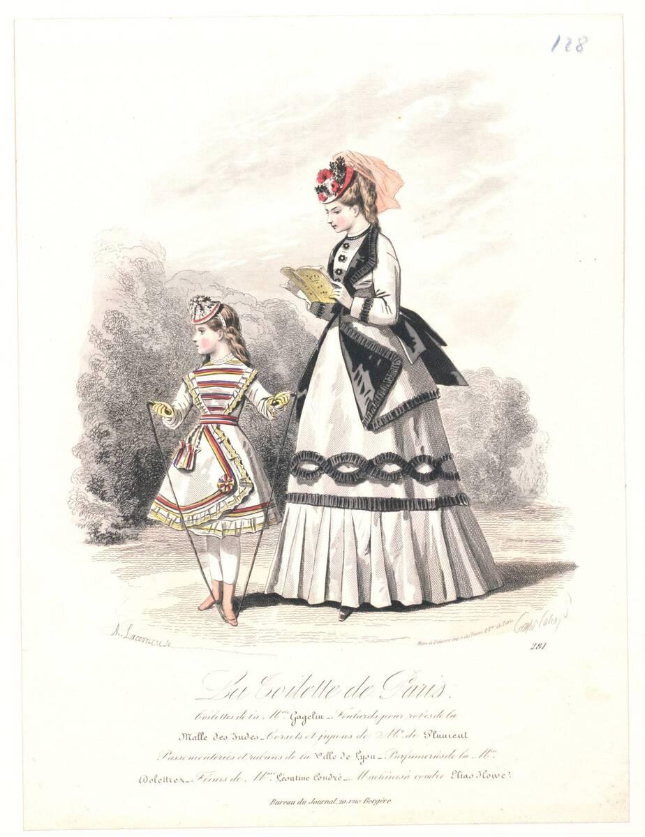 Modebild aus 'La Toilette de Paris' von Compte-Calix, François-Claudius