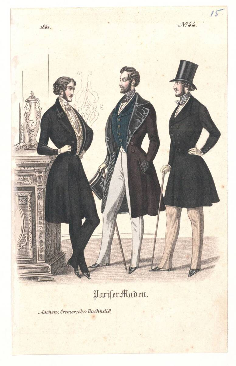 Modebild aus 'Pariser Moden' von Anonym
