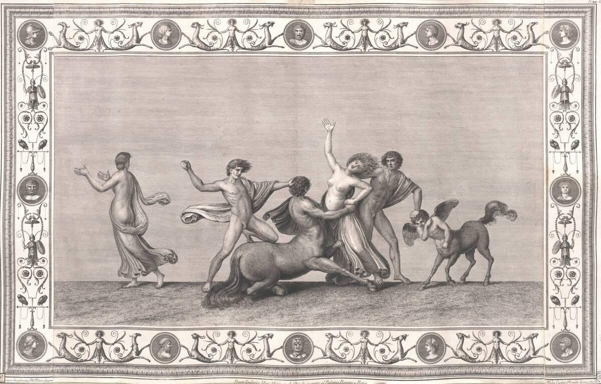 [Titusthermen. Kampf der Kentauren] (vom Bearbeiter vergebener Titel) von Smuglewicz, Franciszek