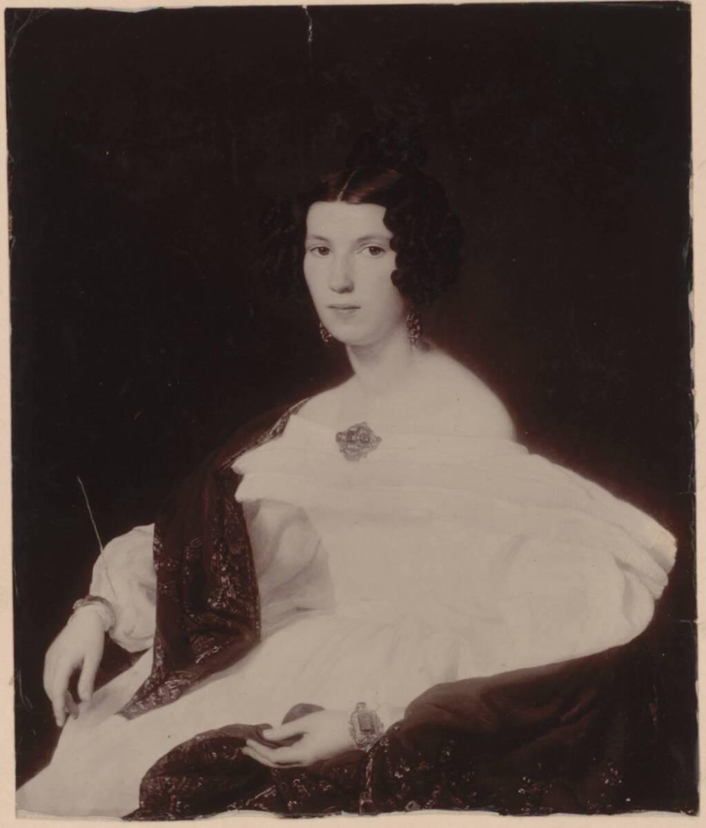 Fotografie des Porträts der Frau von Josef von Stadler von Ferdinand Georg Waldmüller (vom Bearbeiter vergebener Titel) von Anonym