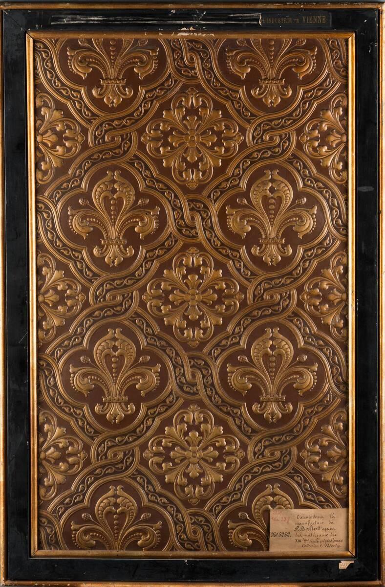Stilkopie einer Ledertapete nach Motiven des 13. Jahrhunderts von Balin, Paul