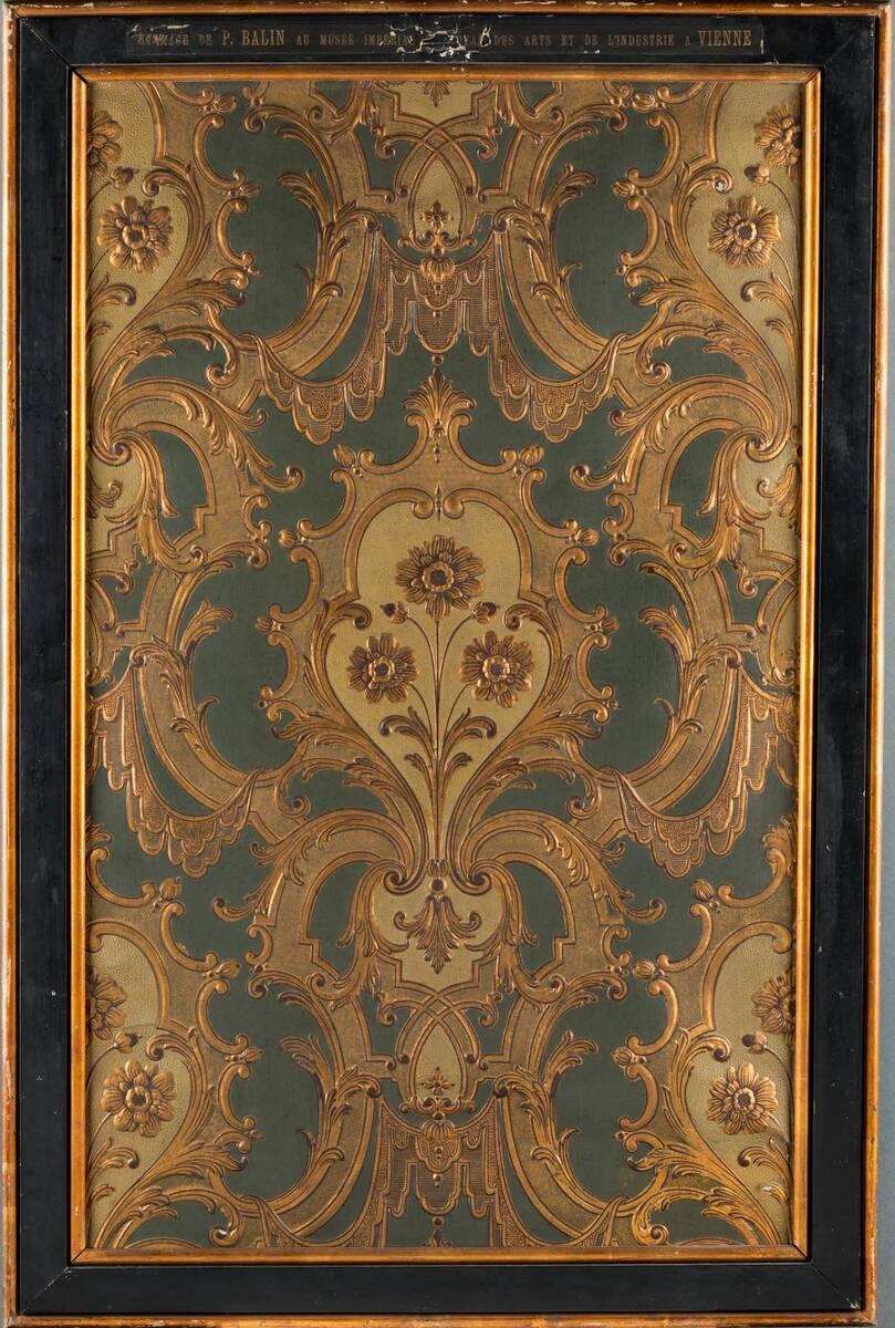Stilkopie einer Ledertapete von Balin, Paul