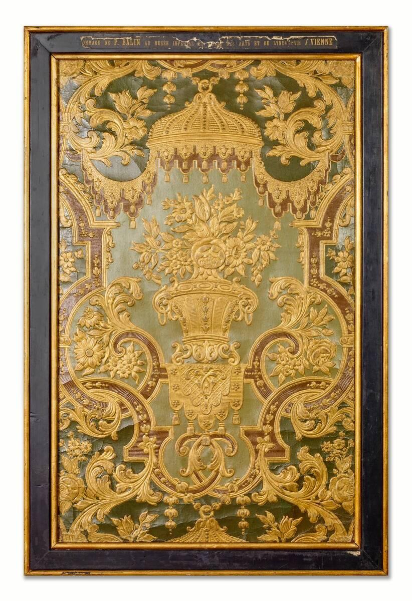 Stilkopie einer Ledertapete des 18. Jahrhunderts von Balin, Paul