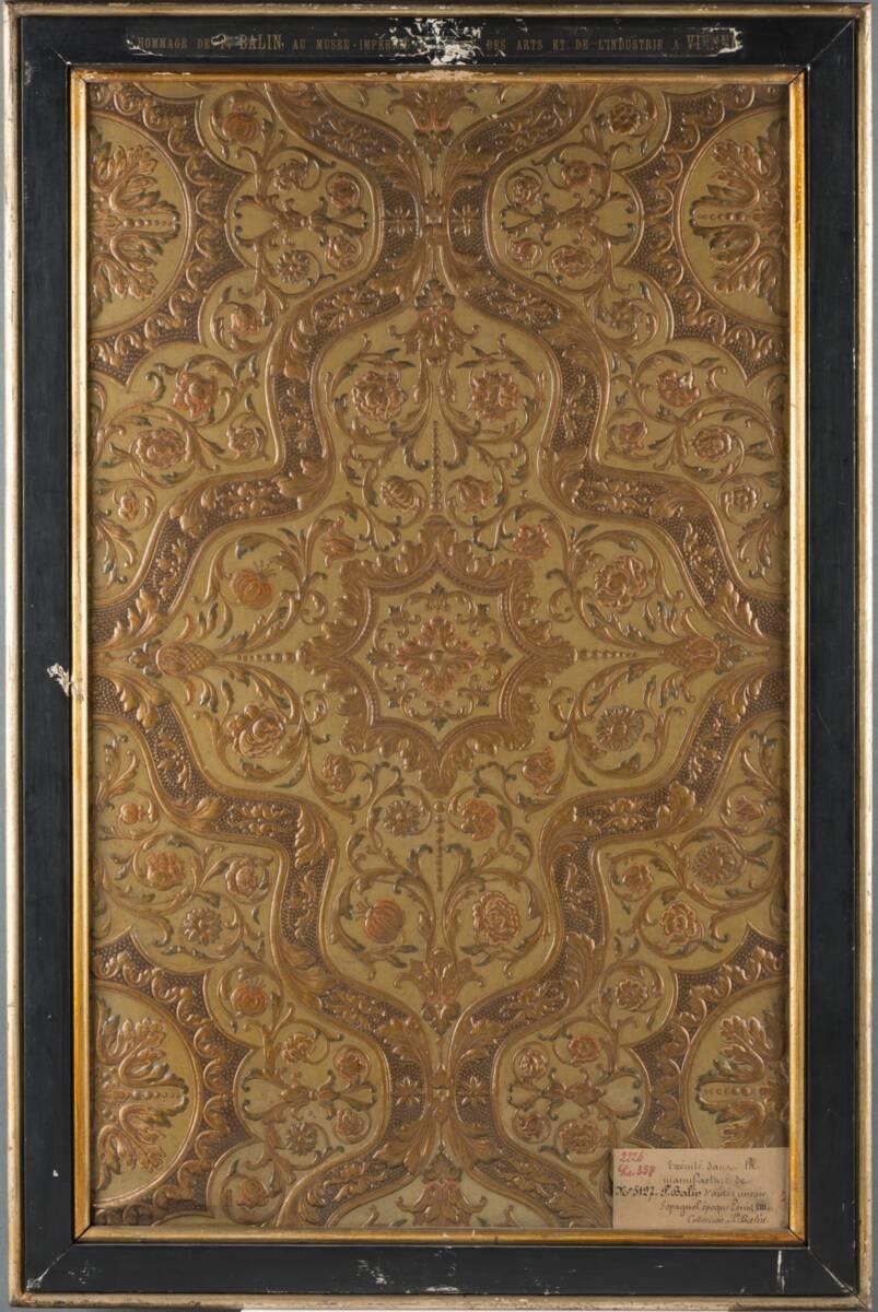 Stilkopie einer spanischen Ledertapete; Epoche Louis XIII. von Balin, Paul