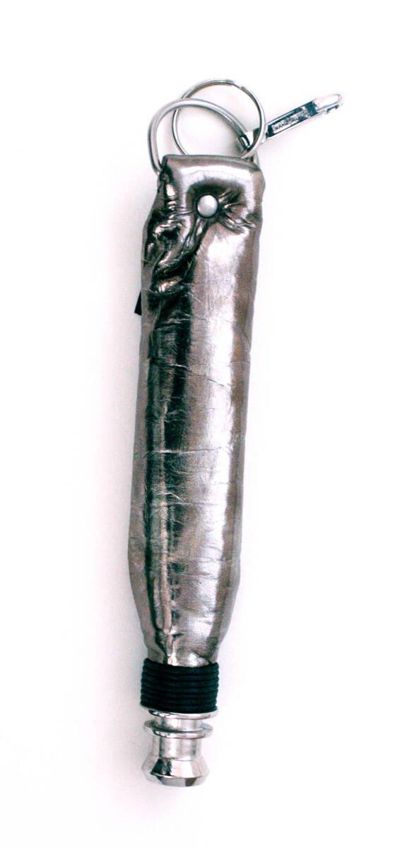 Schlüsselanhänger - metallicgrau (deskriptiver Titel) von Lang, Helmut