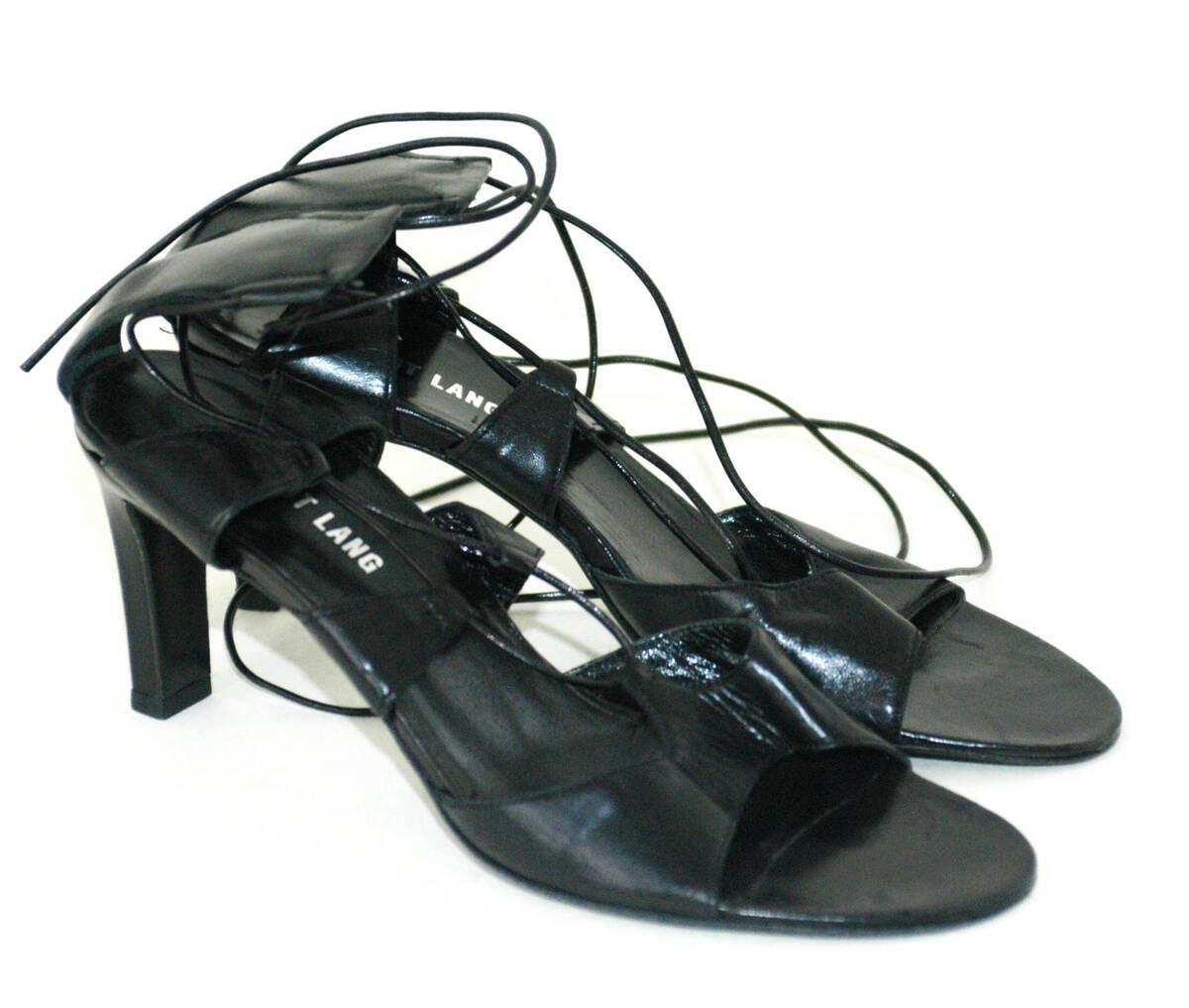 Sandalette (Paar)- schwarz von Lang, Helmut