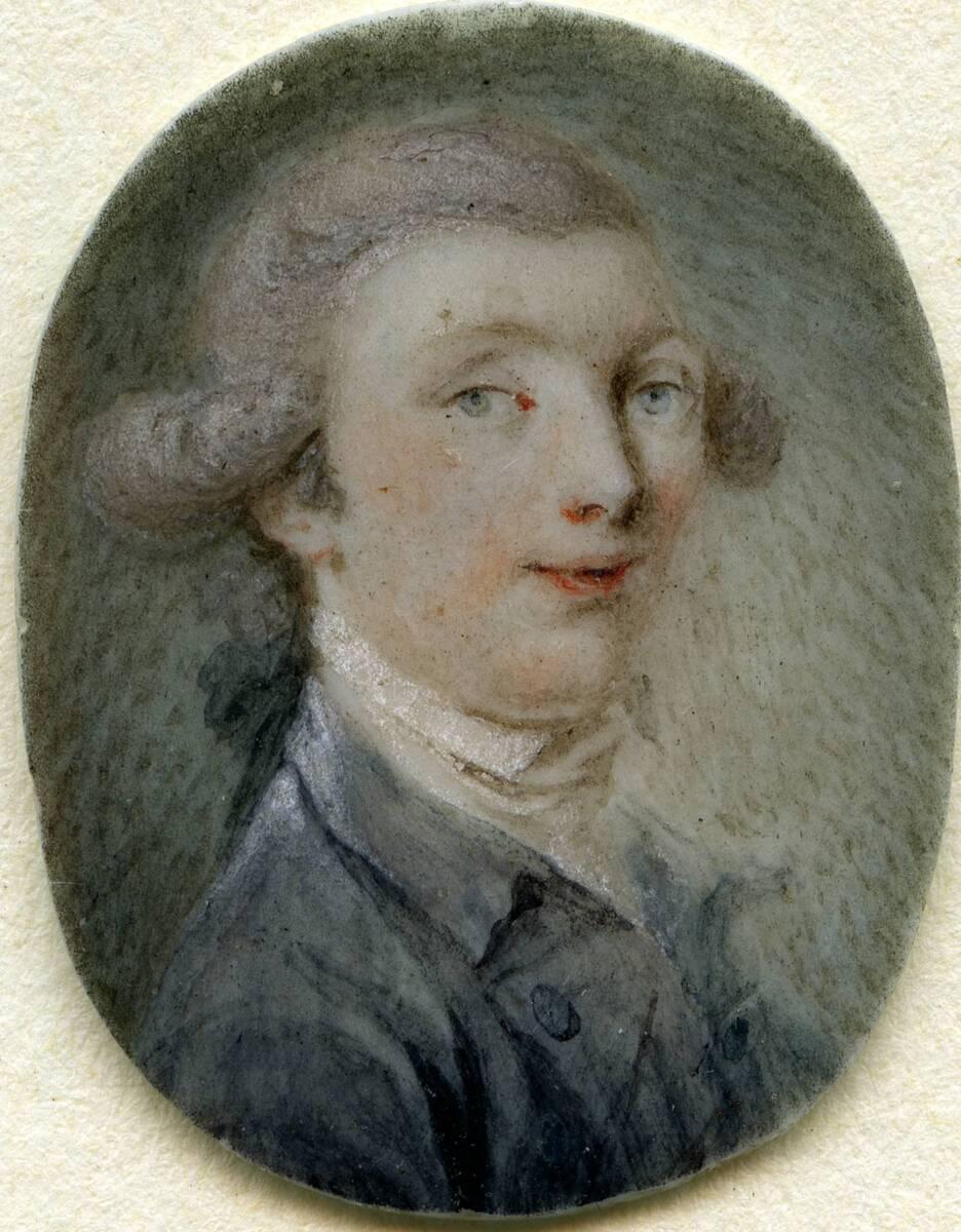 Miniaturporträt eines Mannes in violettem Rock (aus dem Inventar übernommener Titel) von Anonym